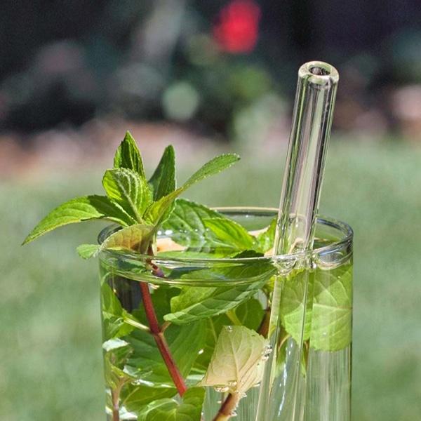 paille réutilisable en verre
