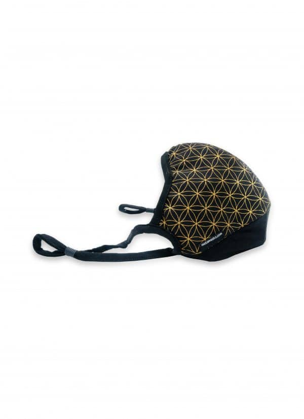 Masque anti-pollution réutilisable Flower of life Gold Side OK