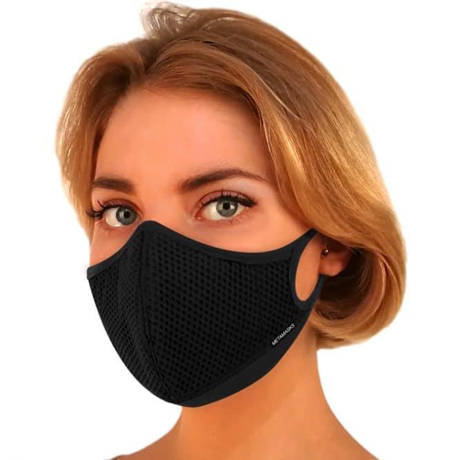 Masque anti-pollution réutilisable Aria Black First OK