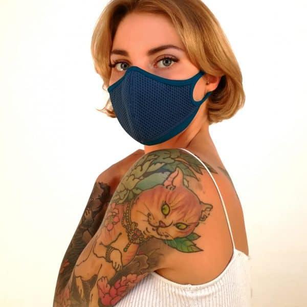 Masque anti-pollution réutilisable Aria Blue OK