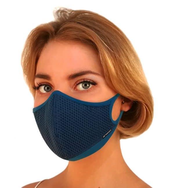 Masque anti-pollution réutilisable Aria Blue First OK
