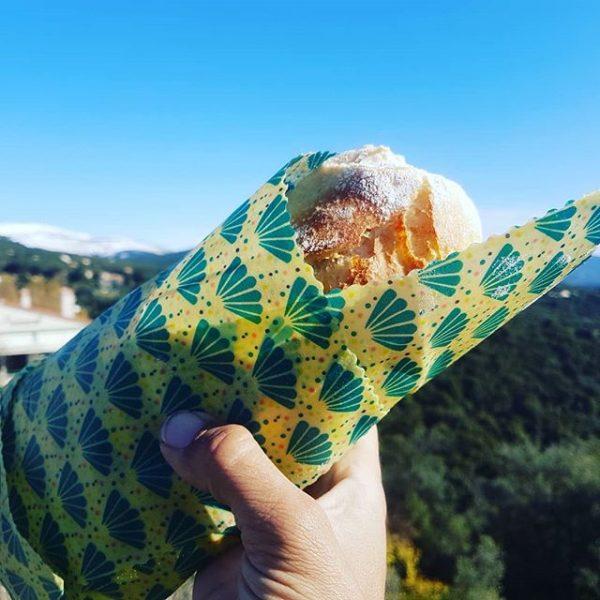 Emballage Alimentaire Réutilisable bee wrap sandwich
