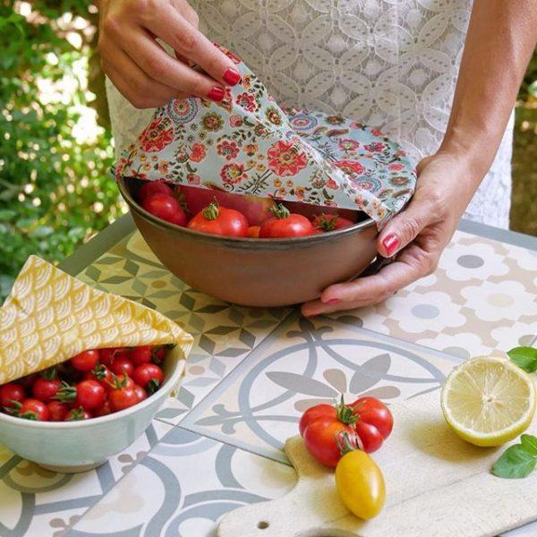 Emballage Alimentaire Réutilisable bee wrap bols