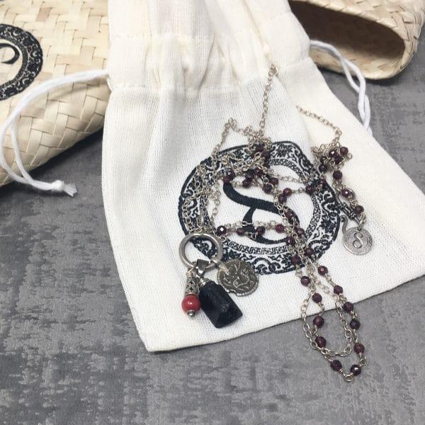 Collier amulettes tourmaline pack