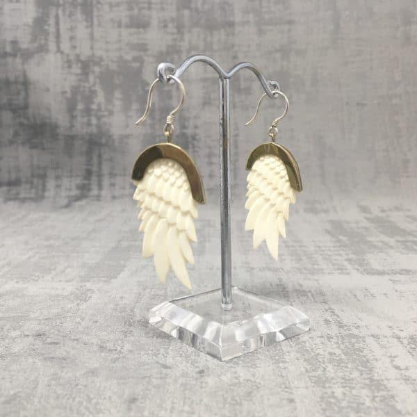 Boucles d'oreilles Ailes d'Ange corne b